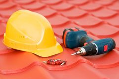 Set of roof equipment royalty free stock photography