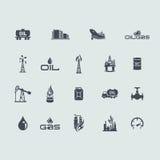 Set ropa i gaz ikony Obraz Royalty Free