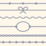 Set of rope borders Stock Photo