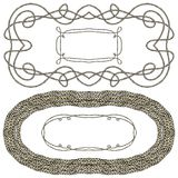 Set of rope frames for marine decor Stock Photography