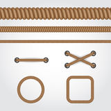 Set of rope Royalty Free Stock Images