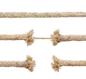Set of ropes royalty free stock photos