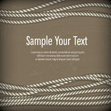 Set of ropes on brown & text Royalty Free Stock Photography