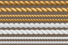 A set of ropes of different sizes. Vector illustration Royalty Free Stock Photo