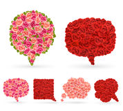 Set of rose bubbles for speech. Royalty Free Stock Images