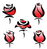 Set of rose symbols Stock Images
