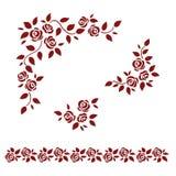 Set of roses. Design elements Stock Photo