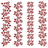 Set of roses. Design elements Royalty Free Stock Images