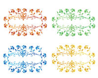 Set of roses. Illustration , set of roses in different color Stock Photos