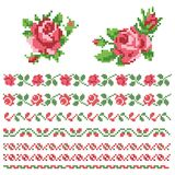 Set of roses, lappet. Set of roses, floral decorative element Stock Photos