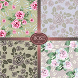 Set of roses pattern Stock Photography