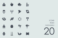 Set of Rosh Hashanah icons Royalty Free Stock Images