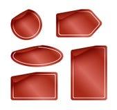 Set Rot-Kennsätze mit aufgerundeten Ecken Stockfotografie