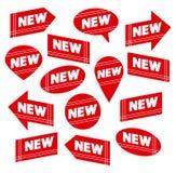 Set Rot-Kennsätze mit der Marke NEU Stockfotografie