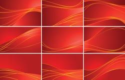 Set rote Hintergründe Lizenzfreie Stockbilder