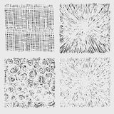 Set of rough hatching drawing texture vector royalty free illustration