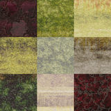 Set of rough plaster seamless generated textures Royalty Free Stock Image