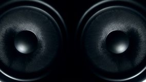 Set of round audio speakers vibrating from sound Royalty Free Stock Photo