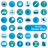 Set of round auto icons Royalty Free Stock Image