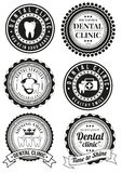 Set of round badges for dental clinic Royalty Free Stock Image
