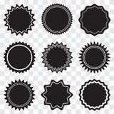 Set of round black labels. Vector illustration stock illustration