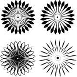 Set Round black logos Royalty Free Stock Image