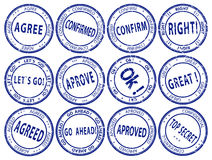 Set of round business stamps - vector Royalty Free Stock Photos