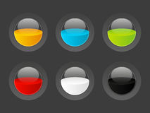 Set of round buttons Royalty Free Stock Photo