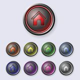 A set of round buttons Home Royalty Free Stock Photography