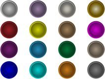 Set round buttons. The set of 16 vector round buttons Royalty Free Stock Photography