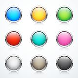 Set of round buttons Stock Image