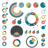 Set of round charts. Stock Photography