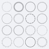 Set of round and circular decorative patterns Stock Image