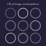 Set of round and circular decorative patterns Stock Photos