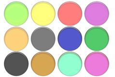 Set round color glass buttons Royalty Free Stock Photos