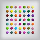 Set of Round Colorful Buttons Stock Photography