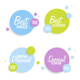 Set of Round colorful  shapes. Abstract  banners. Material Design elements.  Royalty Free Stock Image
