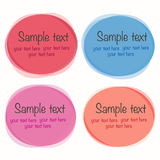 Set of round colorful vector shapes. Vector EPS of Round colorful Set Vector Illustration