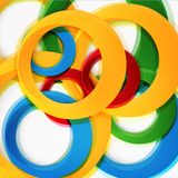 Set of round colorful vector shapes. Stock Photos