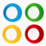 Set of round colorful vector shapes. Royalty Free Stock Images