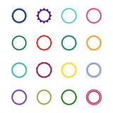 Set of 16 round decorative frames,  illustration Royalty Free Stock Images