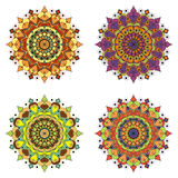 Set of round design elements Royalty Free Stock Photos