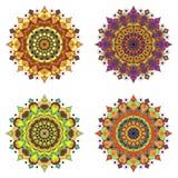 Set of round design elements Royalty Free Stock Photos
