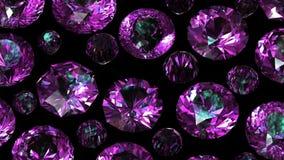 Set of round diamond. Gemstone Royalty Free Stock Photo