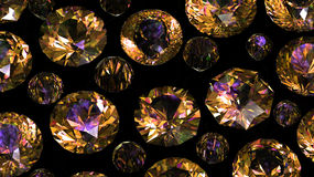 Set of round diamond. Gemstone Stock Photography
