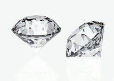Set of round diamond. Gemstone Royalty Free Stock Photography