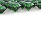 Set of round diamond. Gemstone Royalty Free Stock Photos