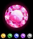 Set of round diamonds Stock Photos
