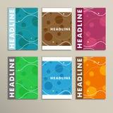 Set round dla abstrakt pokrywy projekta kolor Obraz Stock