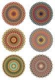 Set of round ethnic design elements Stock Photos